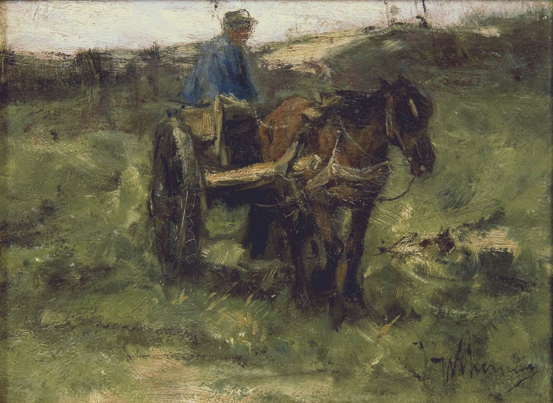 Dutch Figure with a Cart