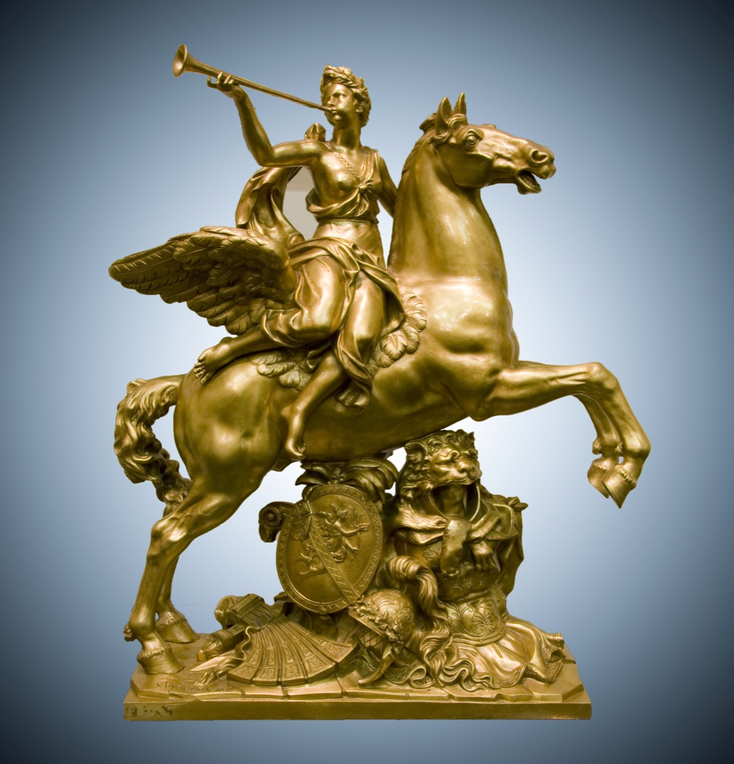 Fame of Louis XIV Riding Pegasus