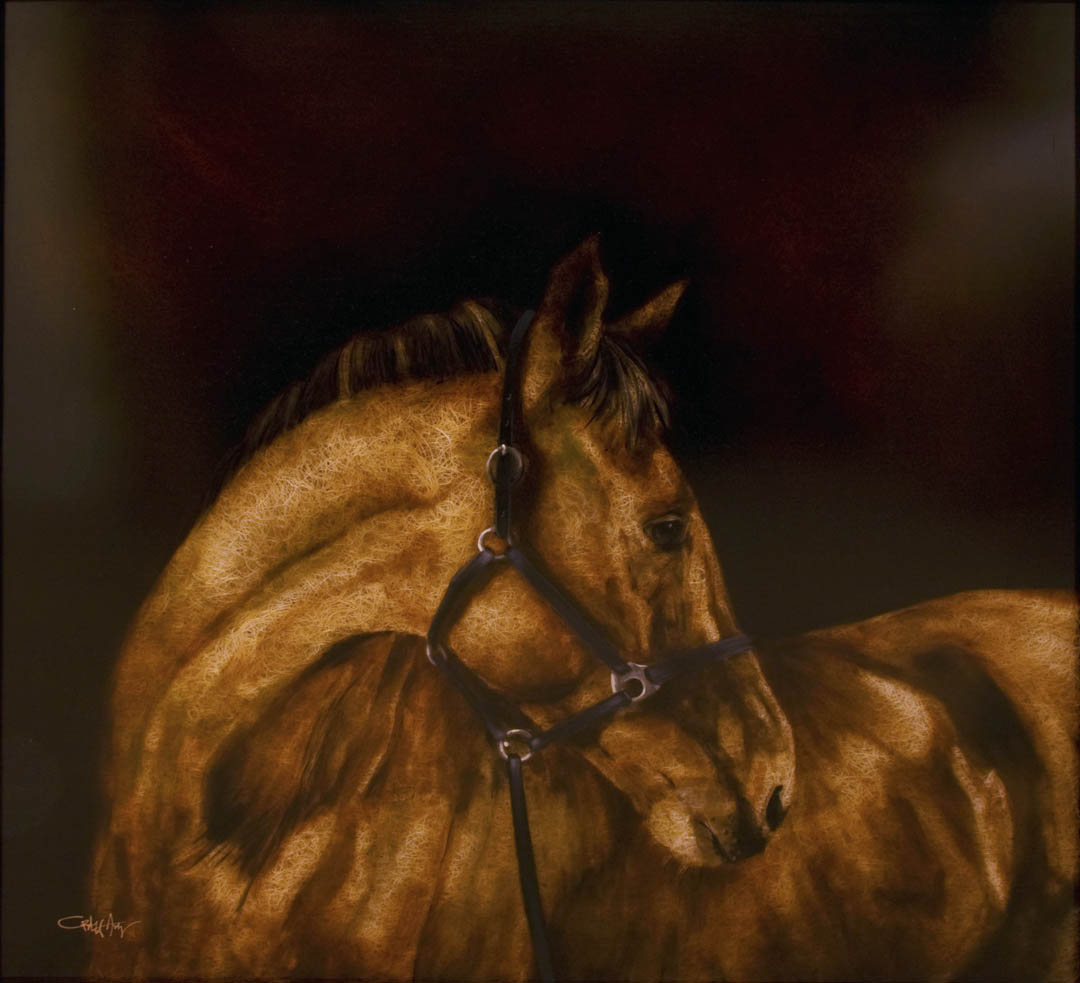 Narrative: Bridled Hay Horse
