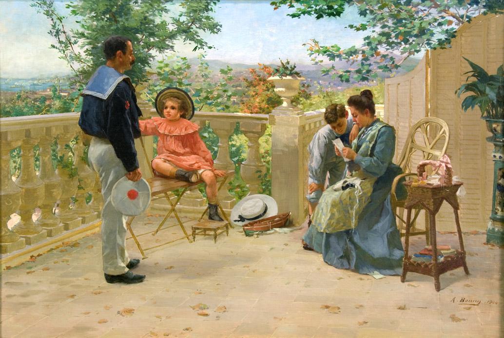 La Lecture de la lettre sur la terrasse (Reading the Letter on the Terrace)