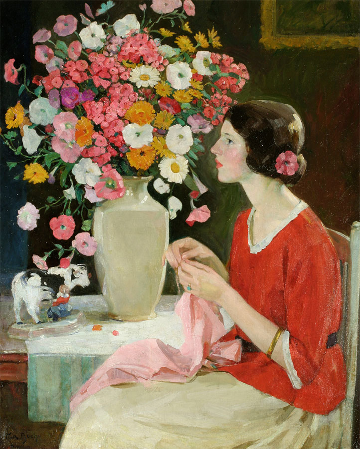 Young Lady Crocheting (Expectancy), ca. 1911