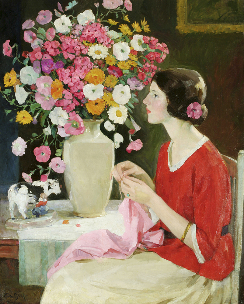 Young Lady Crocheting (Expectancy) ca. 1911