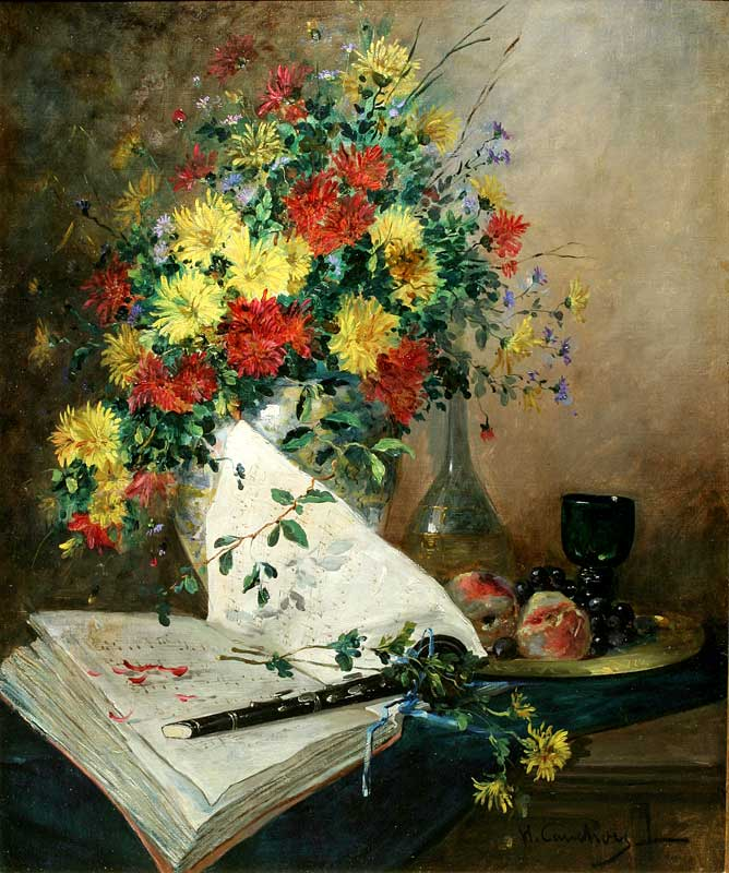 Still Life with Flowers and Clarinet