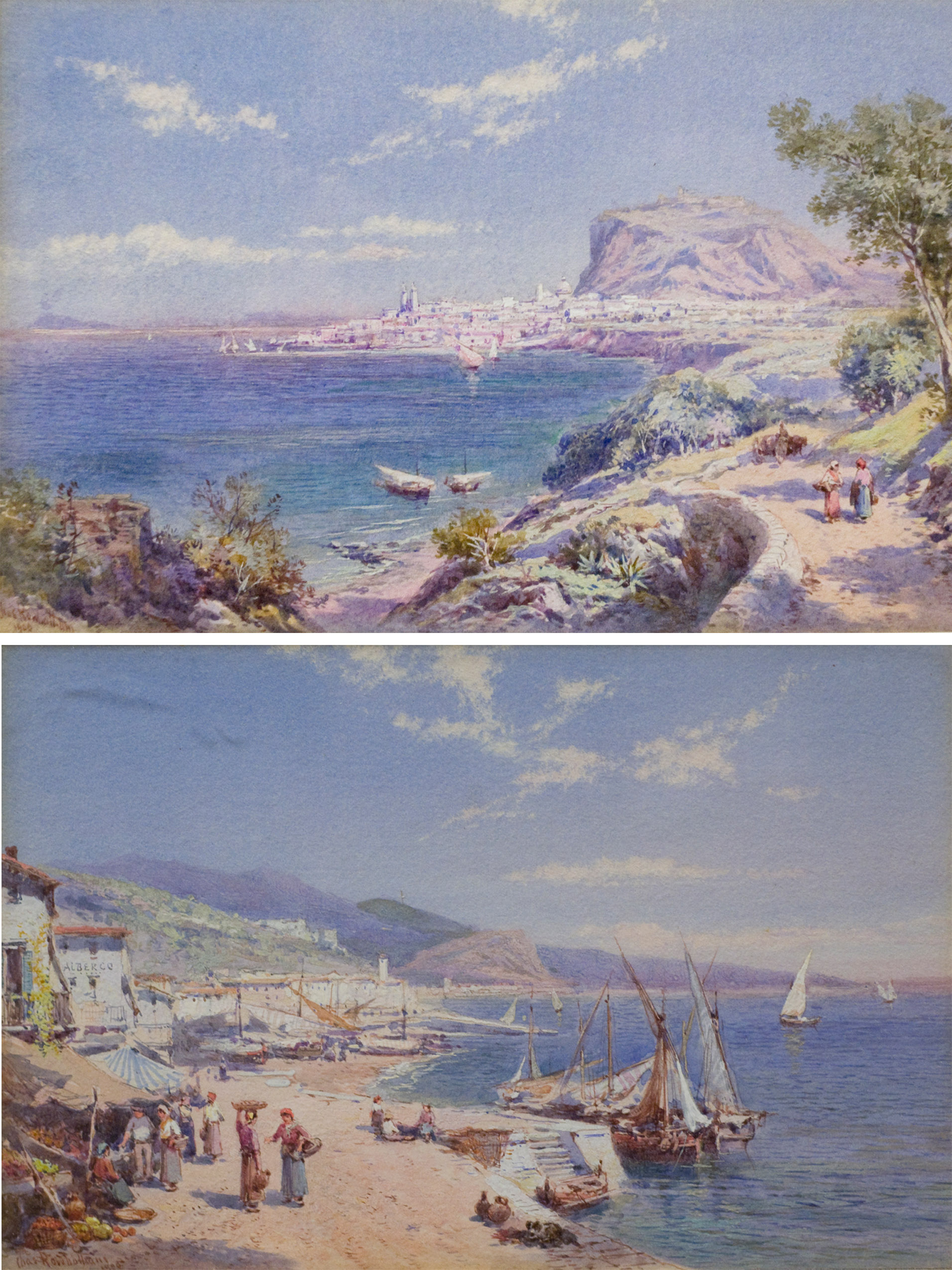 Cefalu, Sicily and San Stephano, Genoa (PAIR)