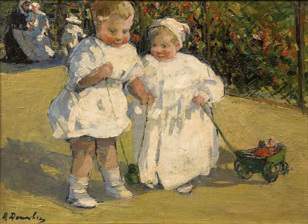 Deux enfants au jardin (Two Children in the Garden)