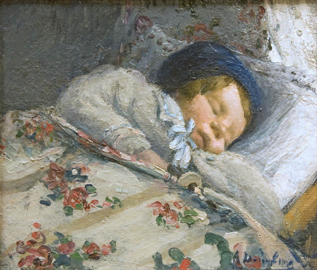 Sweet Dreams (Bébé endormi ), c. 1911