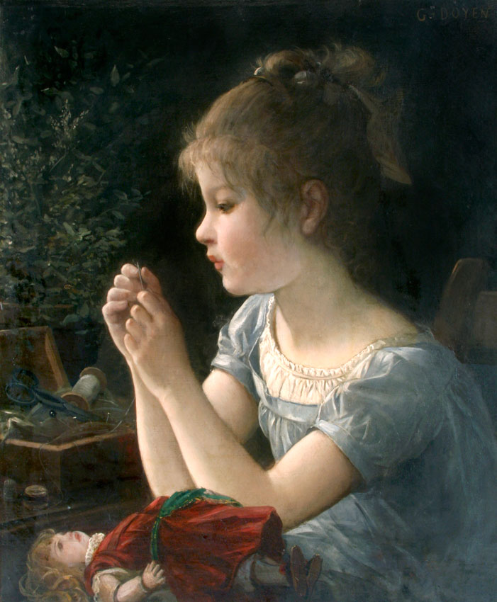 Petite fille et sa poupee (Girl with Doll)
