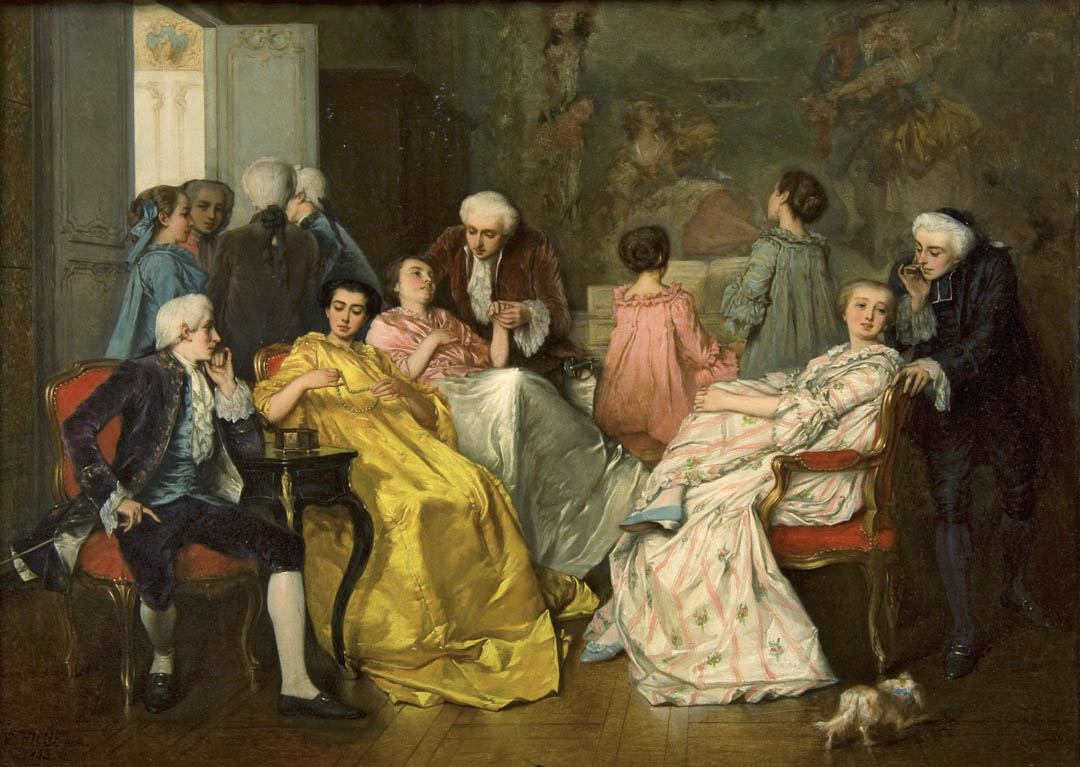 (Afternoon Party in French Conservatory)