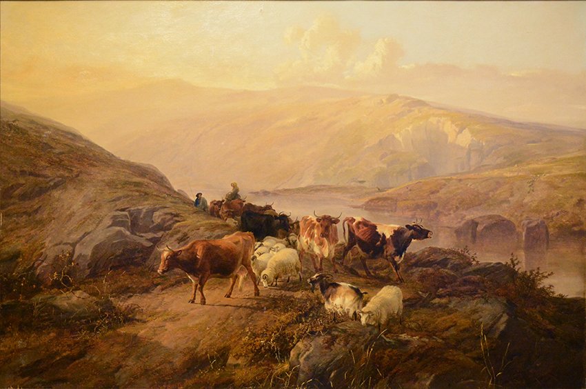 Drover with Cattle and Sheep, 1857