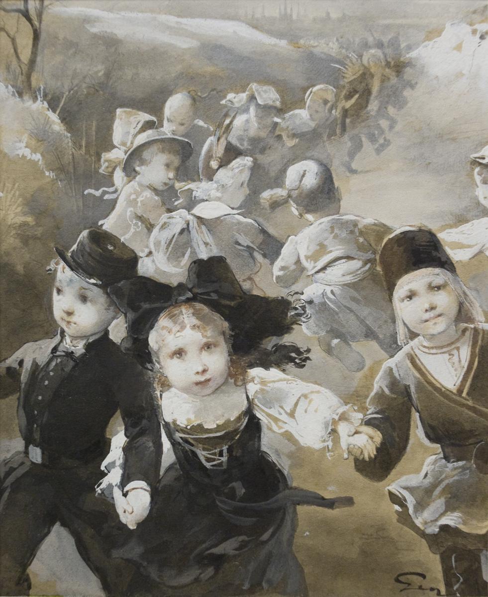 Farandole d'enfants costumes