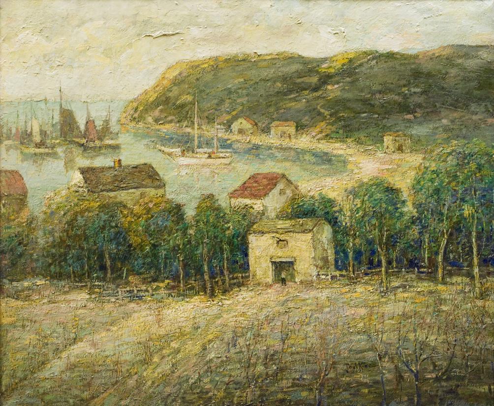 Spanish Harbor Scene