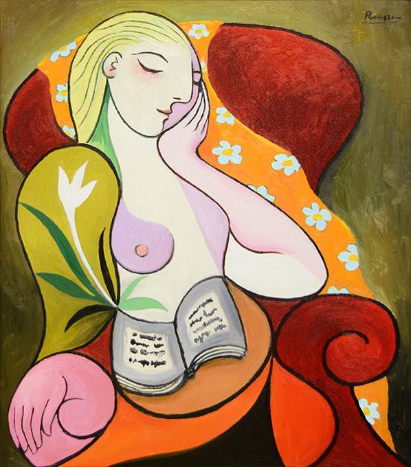 Seated Woman with Orange Scarf