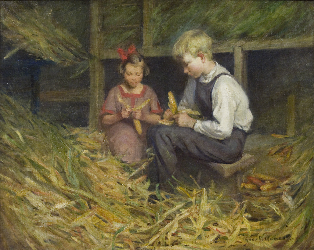 Two Children in a Barn