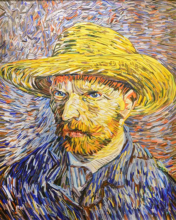 Van Gogh, Self Portrait with Straw  Hat