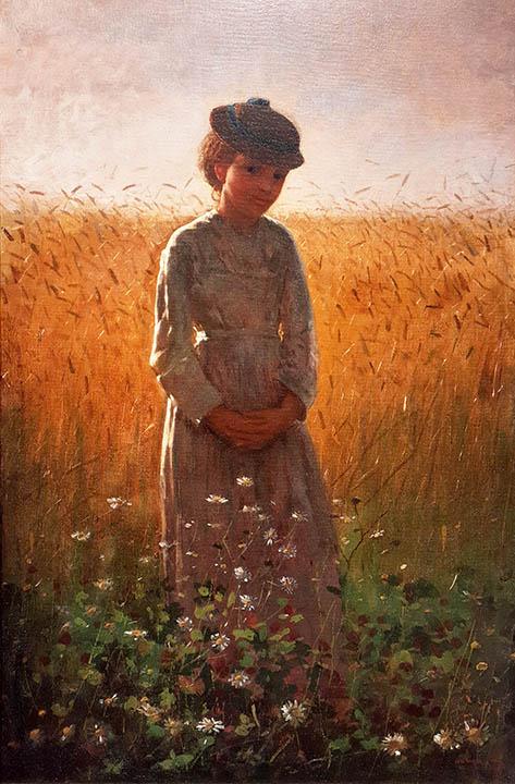 In the Wheatfield (Girl Standing in a Wheatfield)