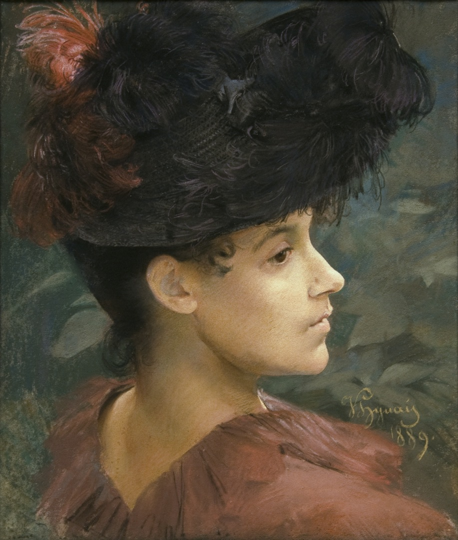 Portrait of a Woman with a Feathered Hat