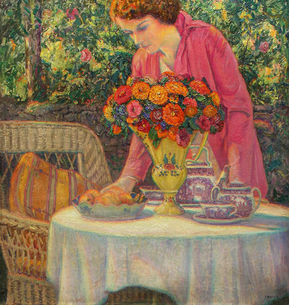 The Tea Party with the Artist's Daughter, Lois