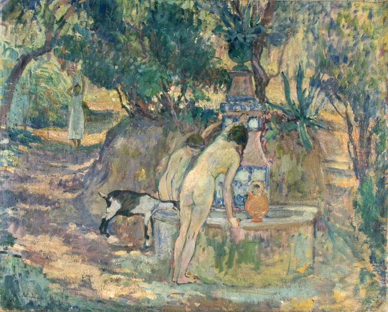 Baigneuses a la fontaine, St. Tropez