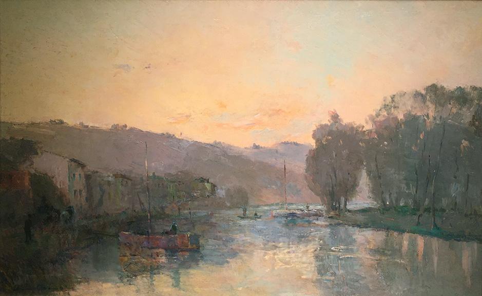 La Seine au Bas-Meudon, Soleil Couchant