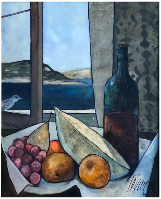 Nature Morte Vin et Fruit
