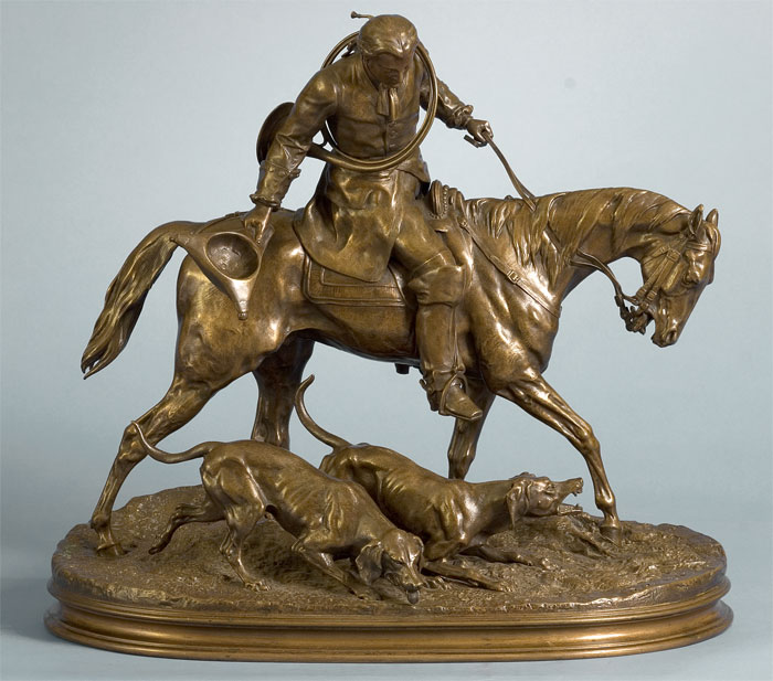 Huntsman with Baying Hounds (Valet de Louis XV)