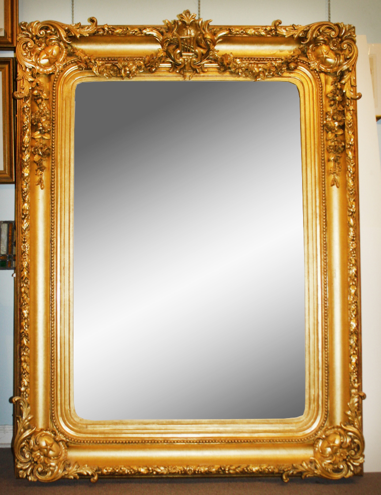 Mirror 19th Century English Frame For Meissonier