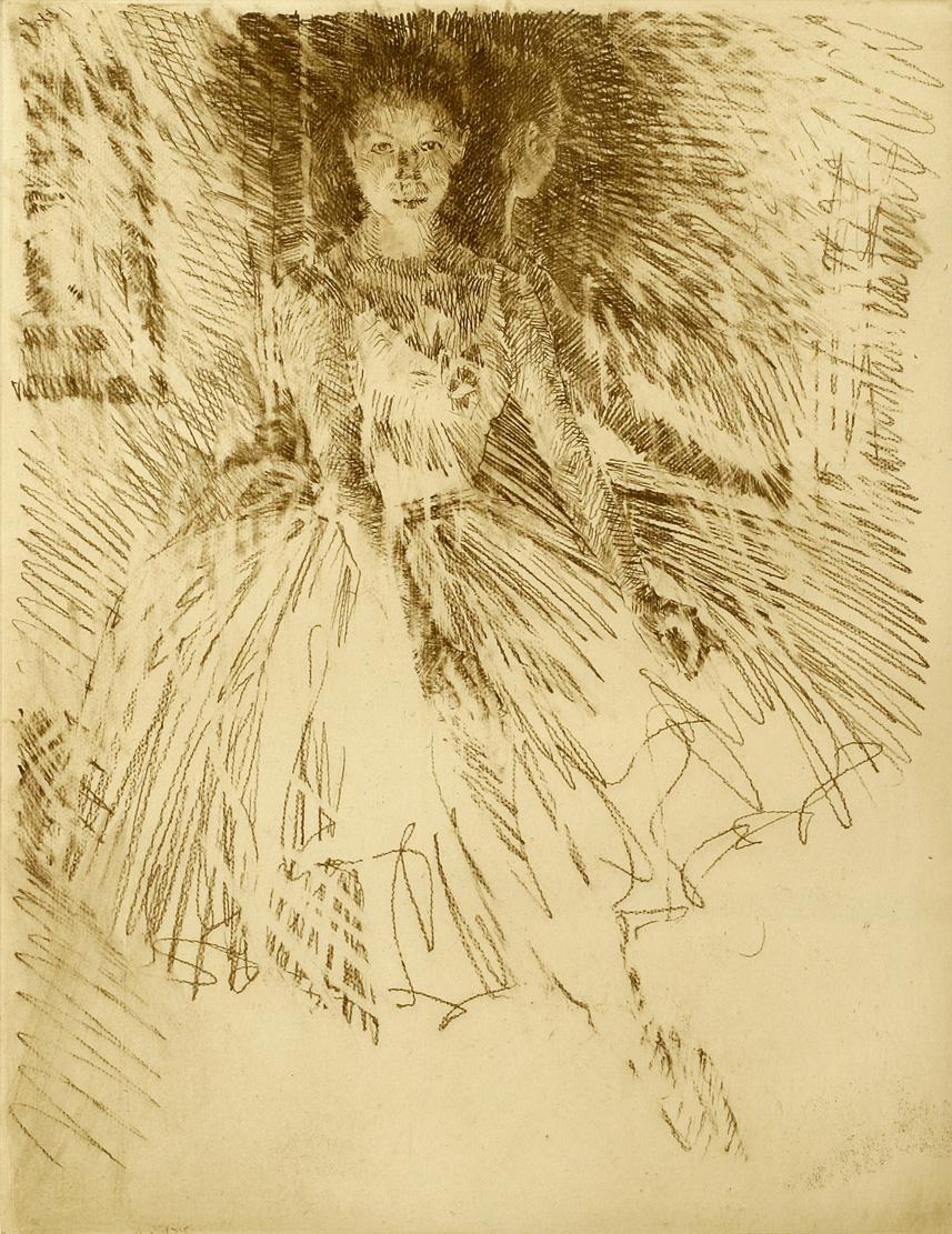 Ballerina (etching)