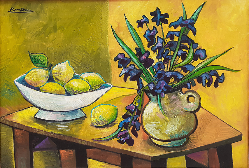 Still-life with Flowers and Lemons