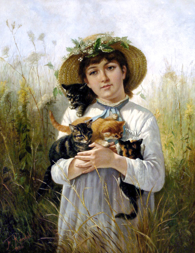 Young Girl with Kittens, 1886