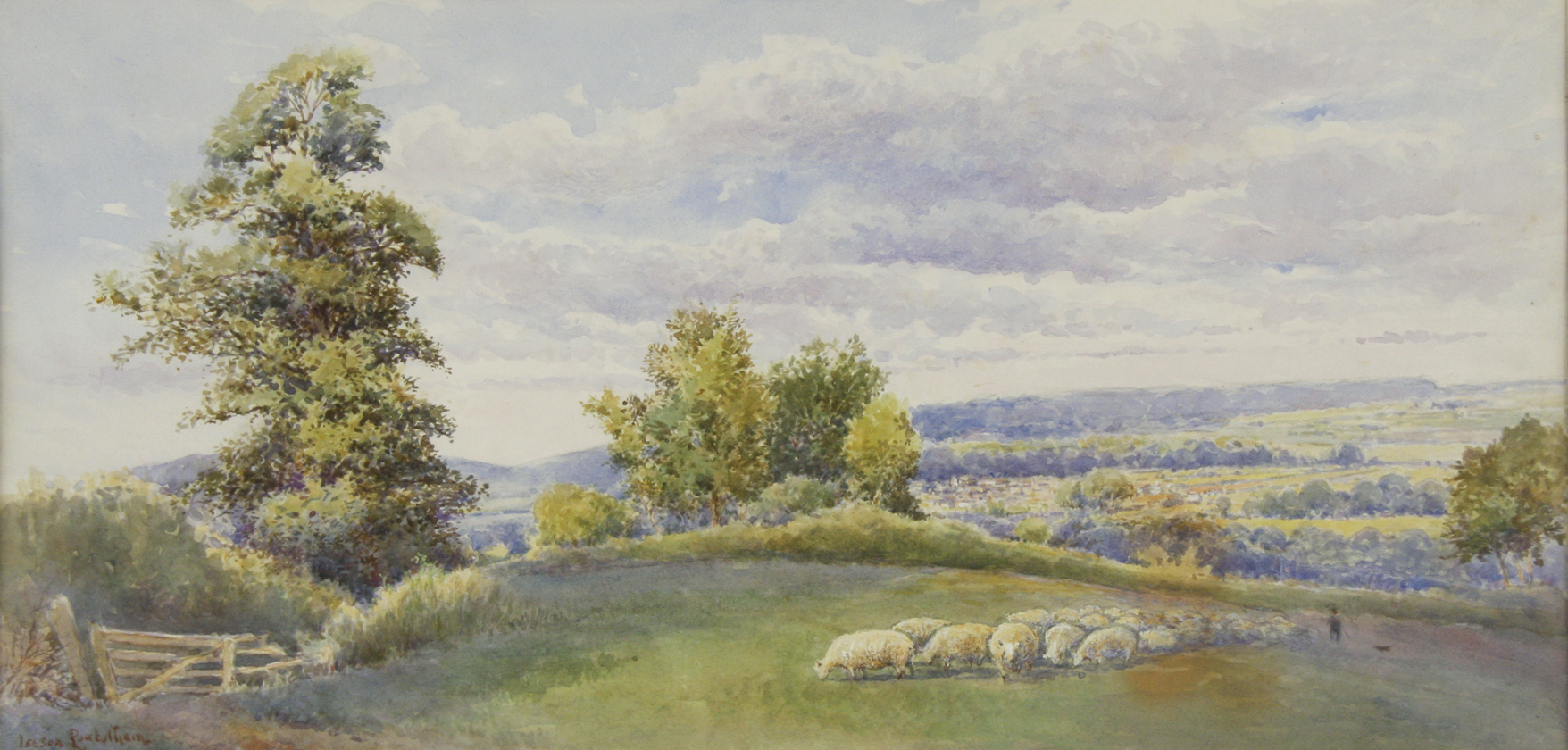 Sheep in an English Pasture