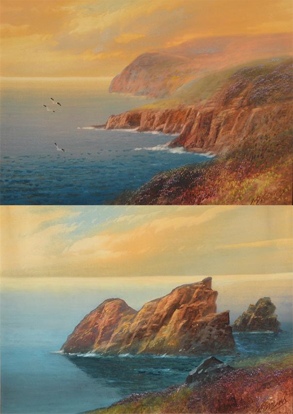 Coastal Sunset (pair)