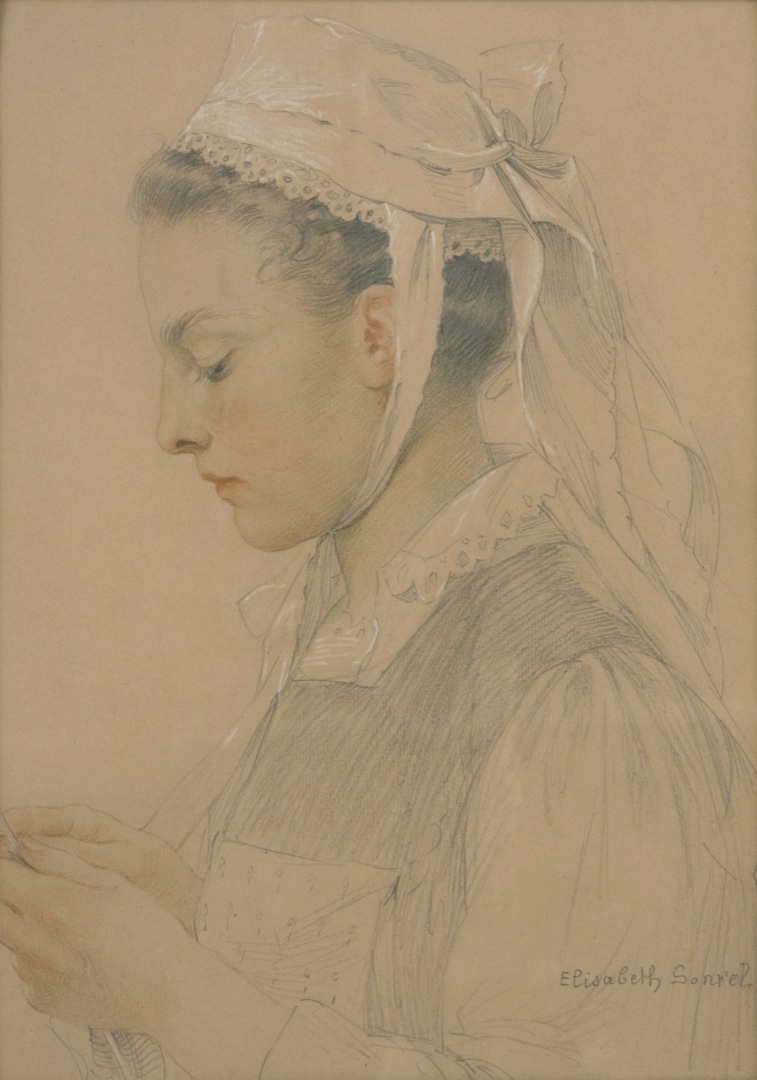 Portrait of a Breton Girl