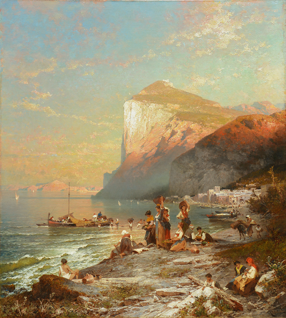 Ankunft der Fischer in Capri, ca. 1878
