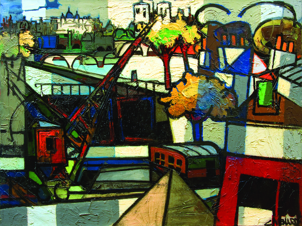 Paris, Pont et Grue (Paris, Bridge and Crane), ca. 1980