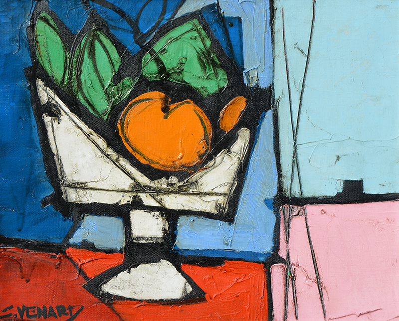 Still Life with Fruit in White Vase (1973)