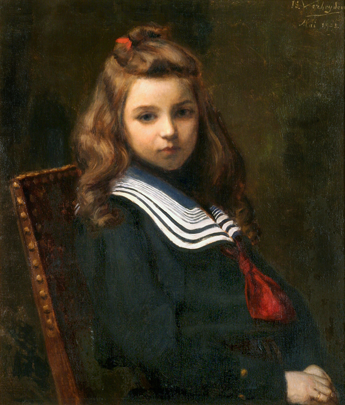 Young Girl in a Sailor's Suit