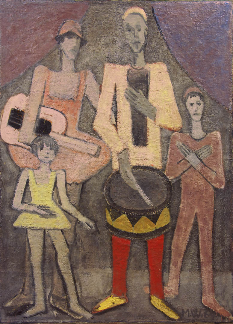 Family of Jesters with Instruments
