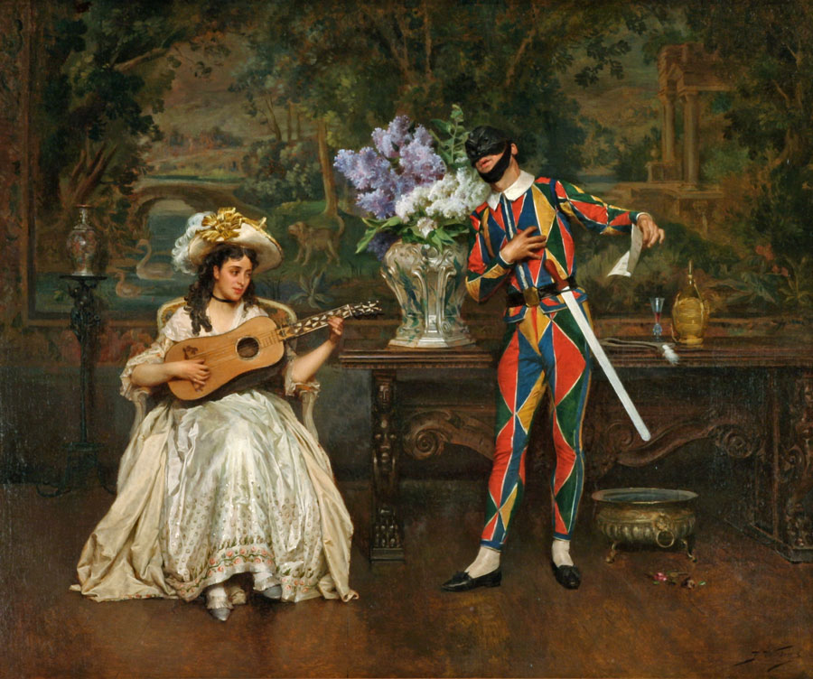 Musical Interlude-Woman and Harlequin